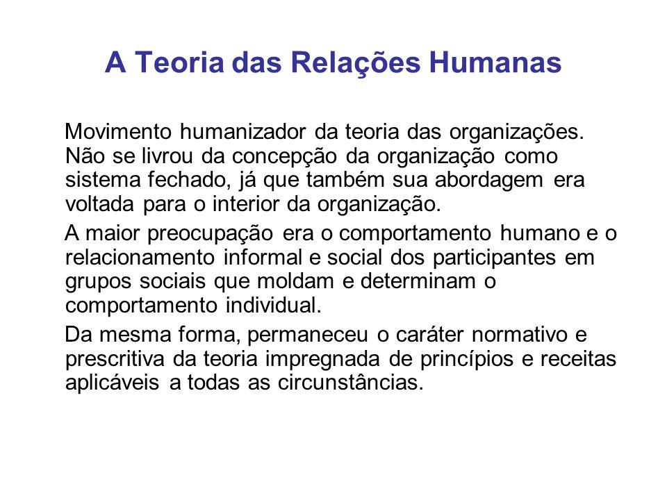 A Teoria das Relações Humanas