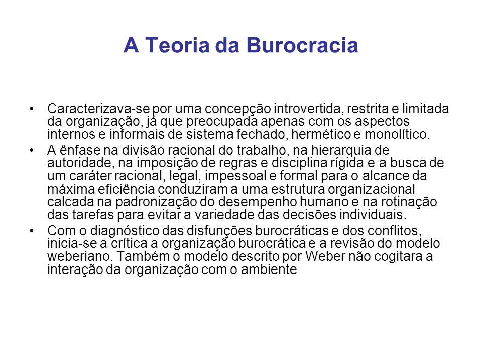 A Teoria da Burocracia