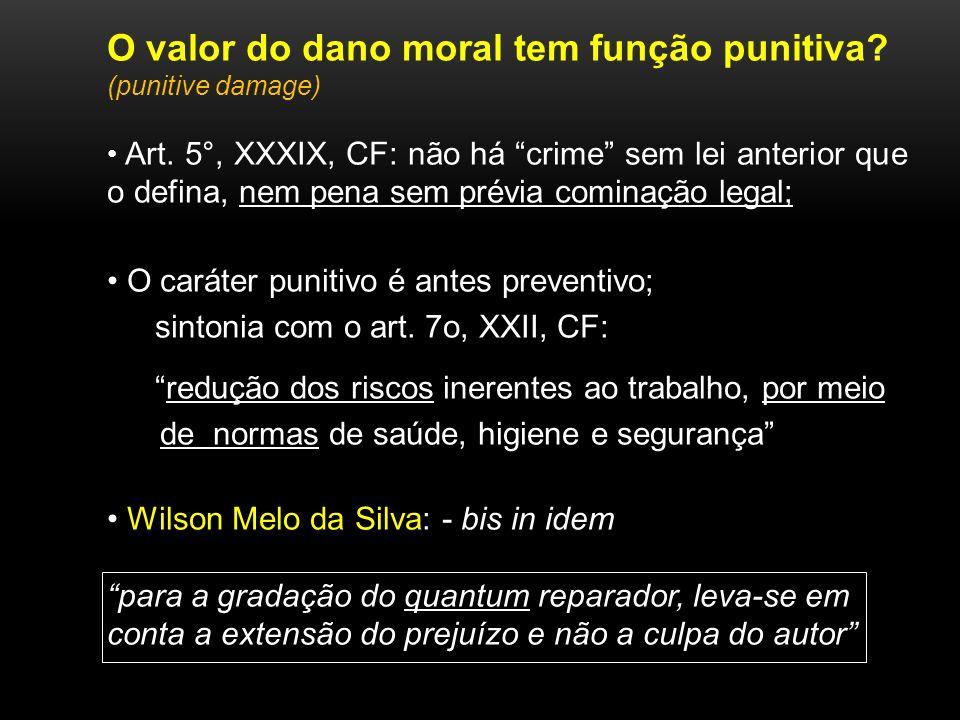 O valor do dano moral tem função punitiva