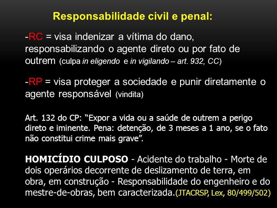 Responsabilidade civil e penal: