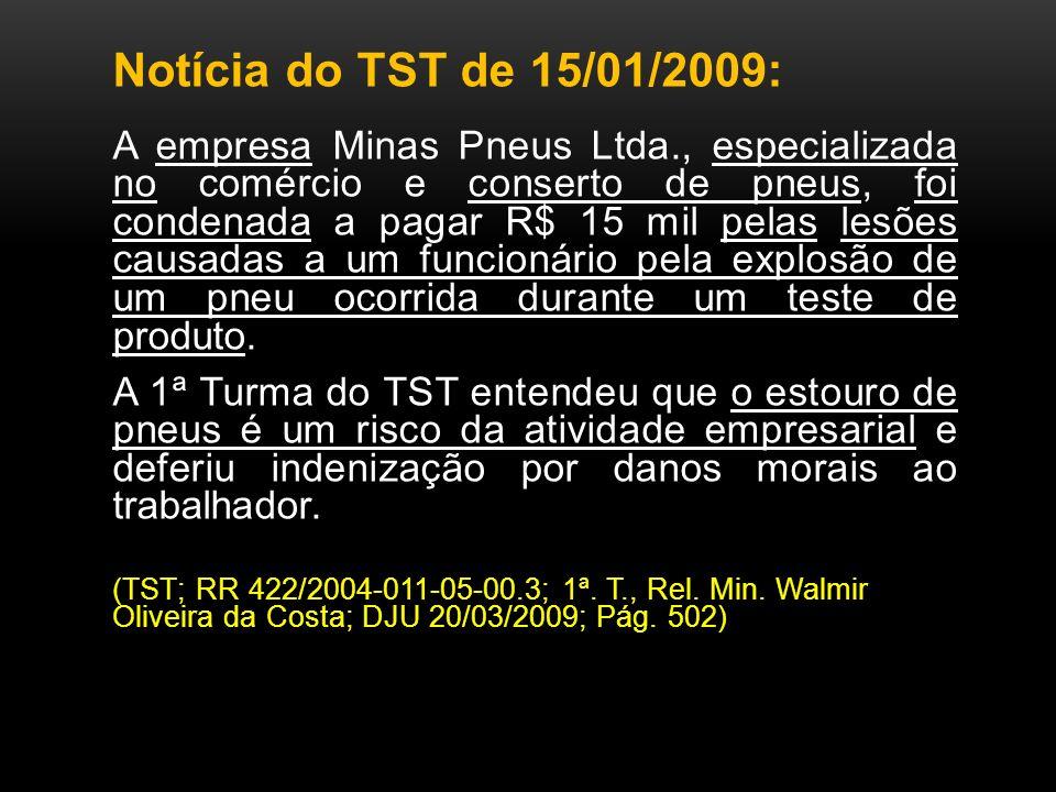 Notícia do TST de 15/01/2009: