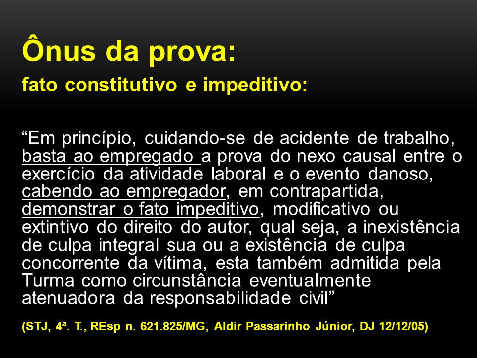 fato constitutivo e impeditivo: