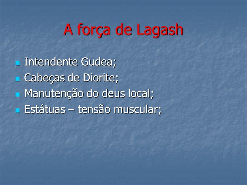 A força de Lagash Intendente Gudea; Cabeças de Diorite;