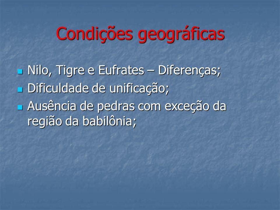 Condições geográficas
