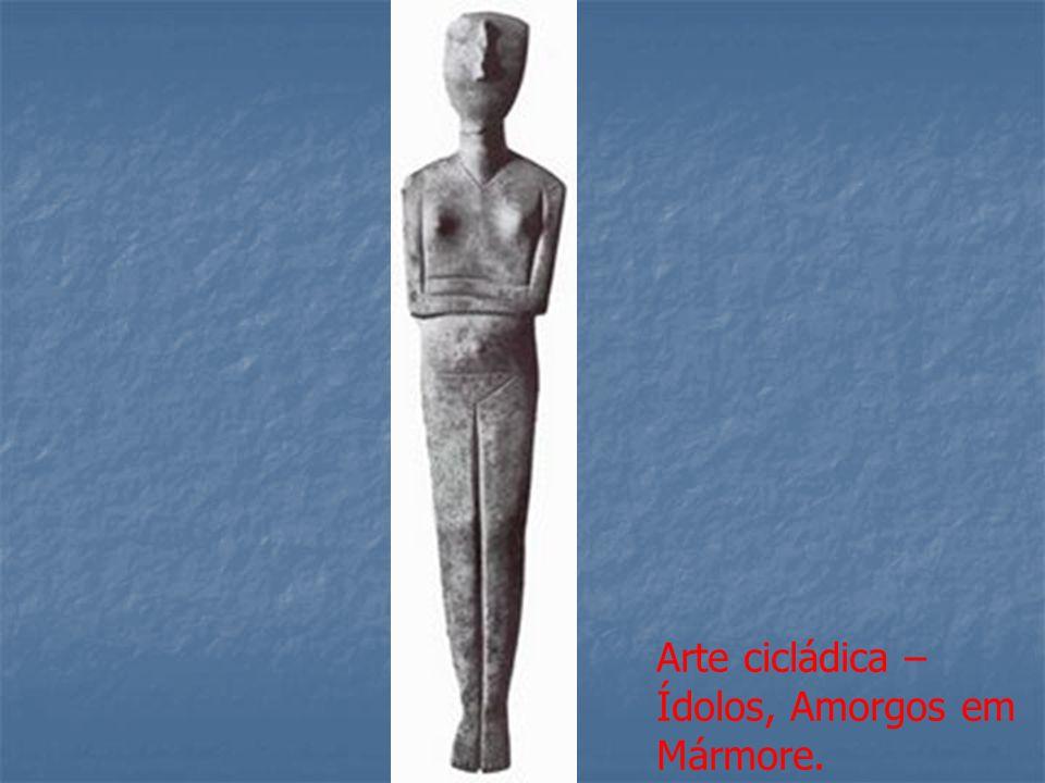 Arte cicládica – Ídolos, Amorgos em Mármore.