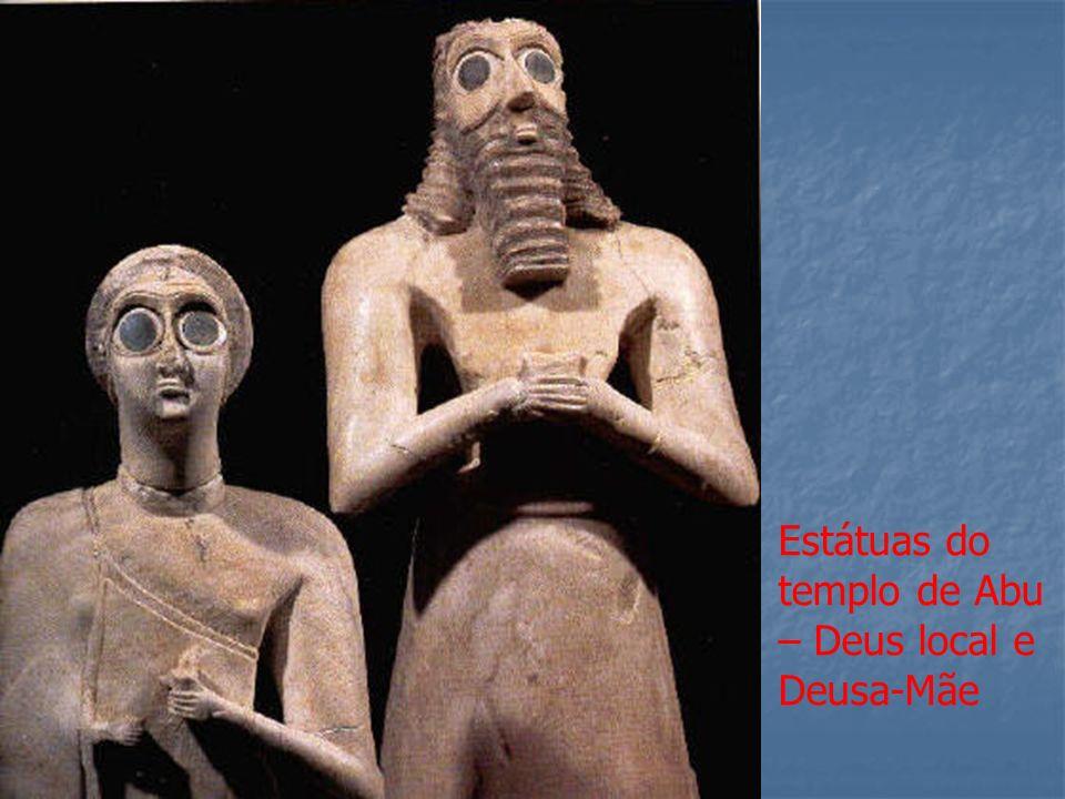 Estátuas do templo de Abu – Deus local e Deusa-Mãe