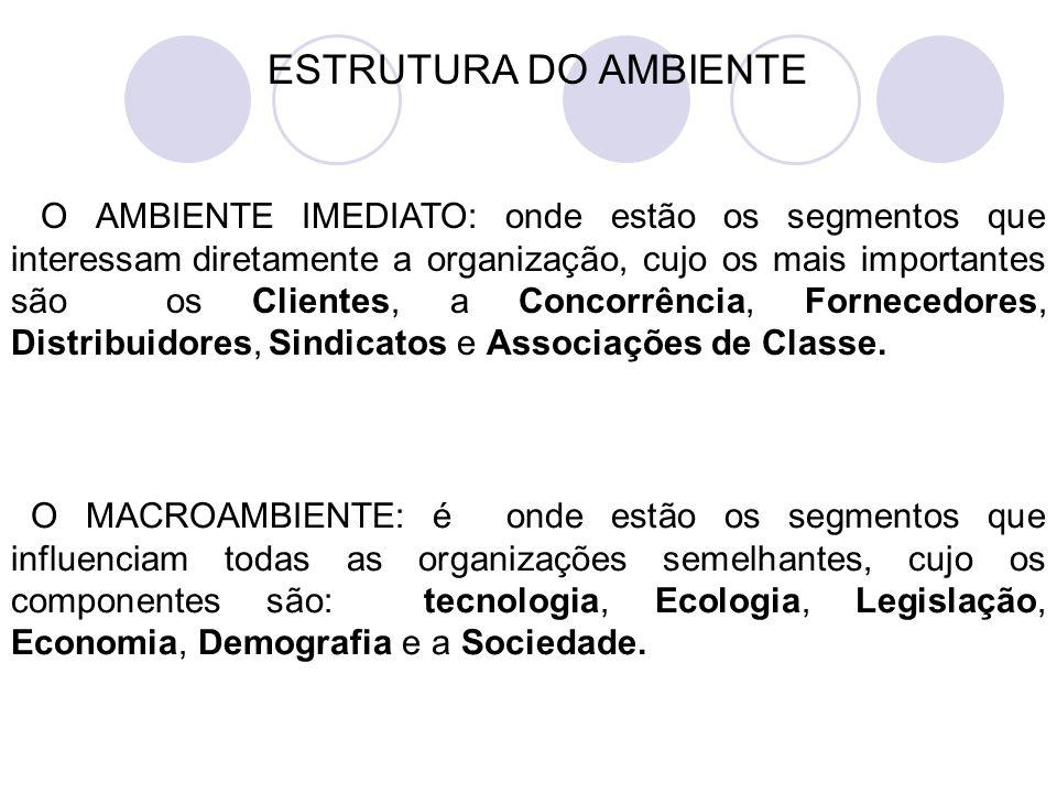ESTRUTURA DO AMBIENTE