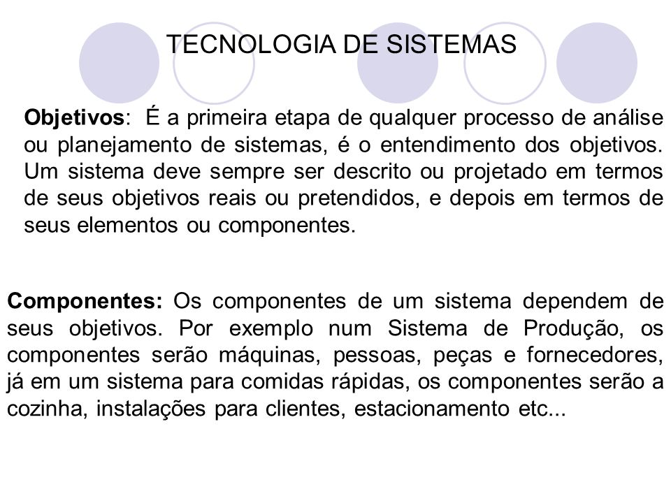 TECNOLOGIA DE SISTEMAS