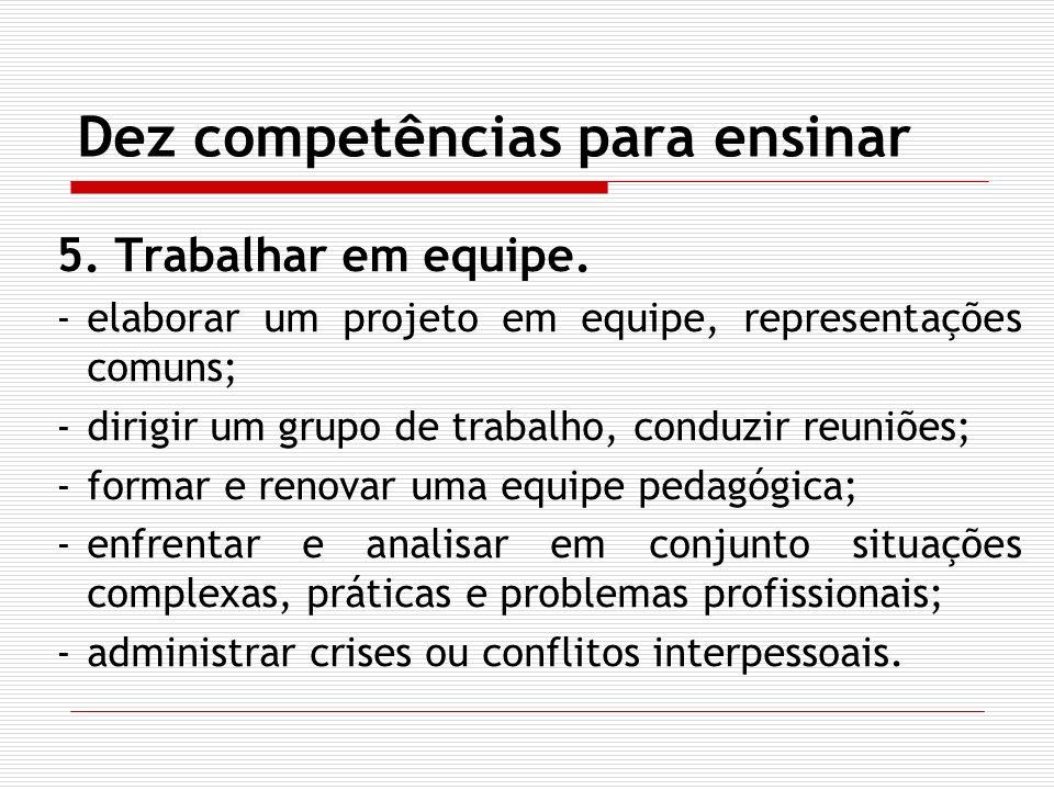 Dez competências para ensinar