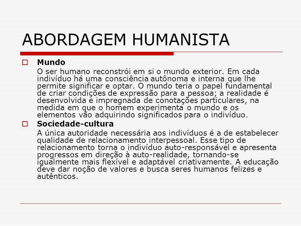 ABORDAGEM HUMANISTA Mundo