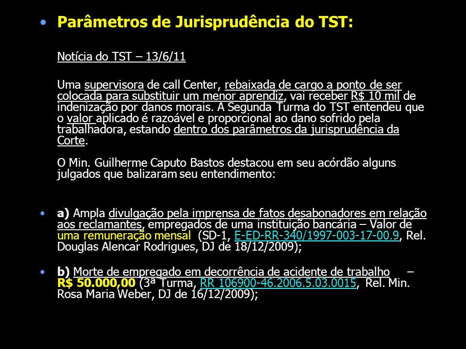 Parâmetros de Jurisprudência do TST: