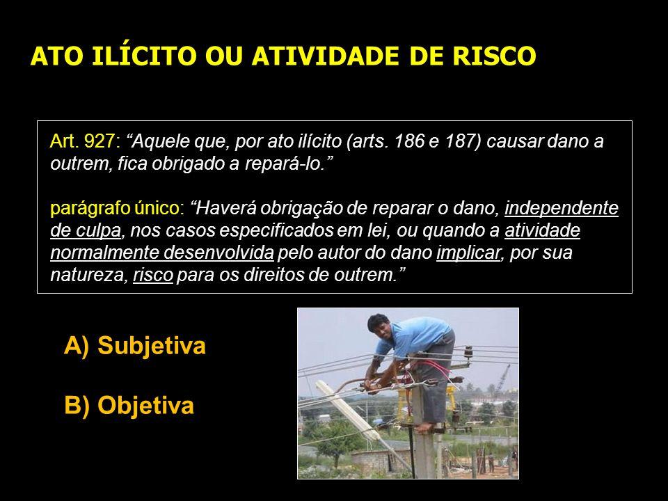 ATO ILÍCITO OU ATIVIDADE DE RISCO