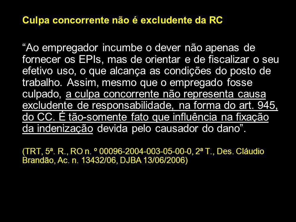 Culpa concorrente não é excludente da RC