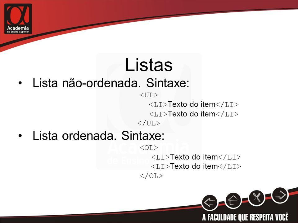 <LI>Texto do item</LI>