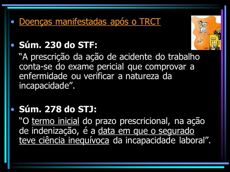 Doenças manifestadas após o TRCT