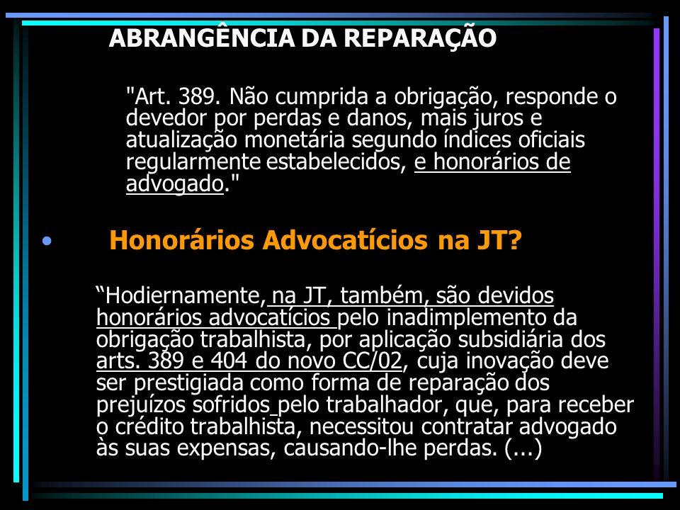Honorários Advocatícios na JT