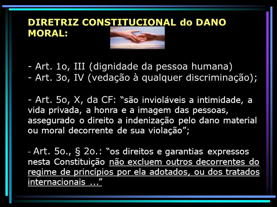 DIRETRIZ CONSTITUCIONAL do DANO MORAL:
