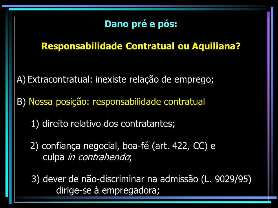 Responsabilidade Contratual ou Aquiliana