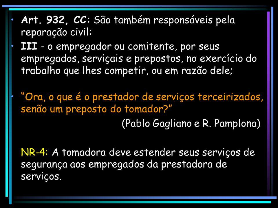 Art. 932, CC: São também responsáveis pela reparação civil:
