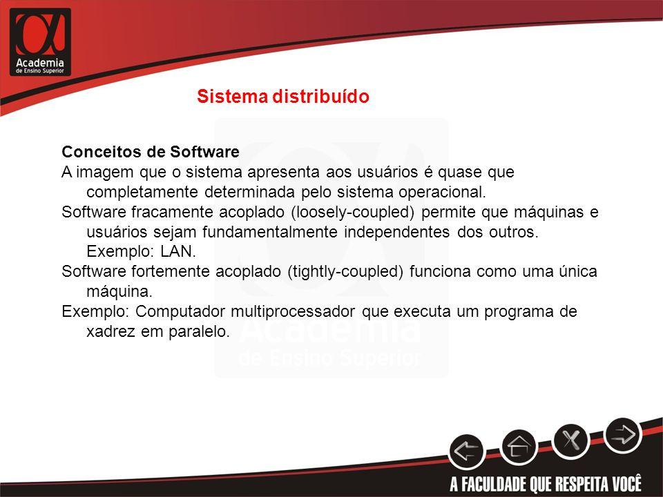 Sistema distribuído Conceitos de Software