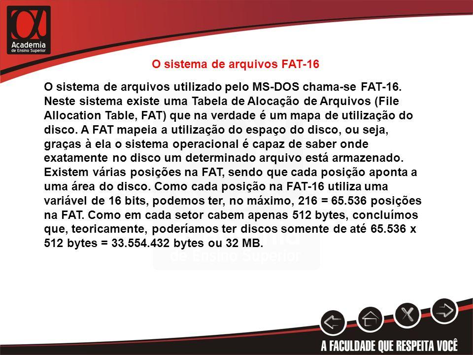 O sistema de arquivos FAT-16