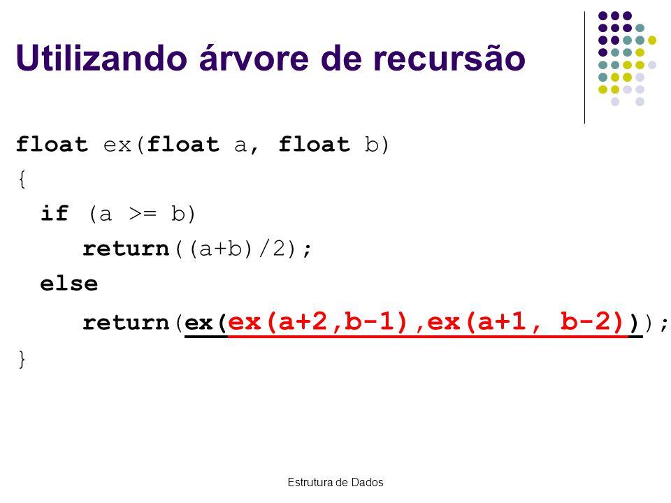 Utilizando árvore de recursão