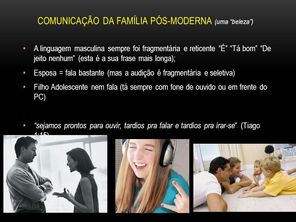 COMUNICAÇÃO DA FAMÍLIA PÓS-MODERNA (uma beleza )