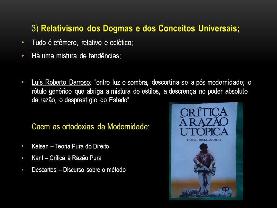 3) Relativismo dos Dogmas e dos Conceitos Universais;