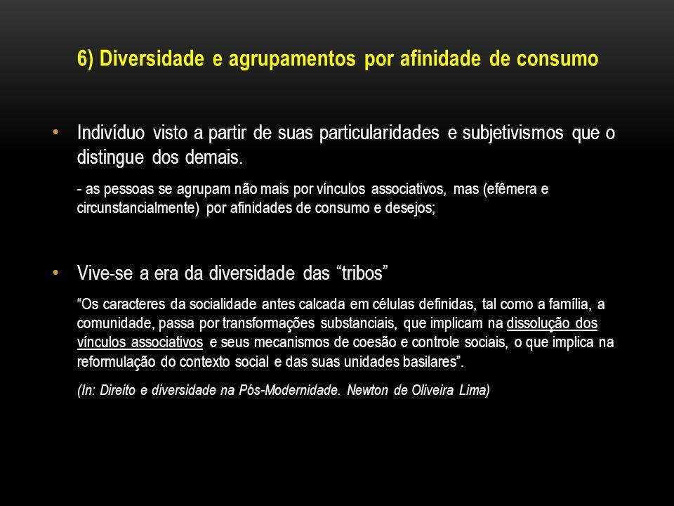 6) Diversidade e agrupamentos por afinidade de consumo
