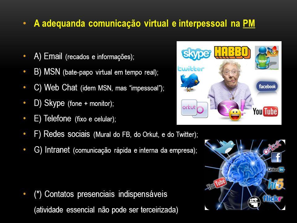 A adequanda comunicação virtual e interpessoal na PM