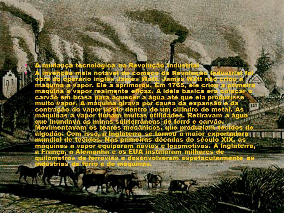 A mudança tecnológica na Revolução Industrial