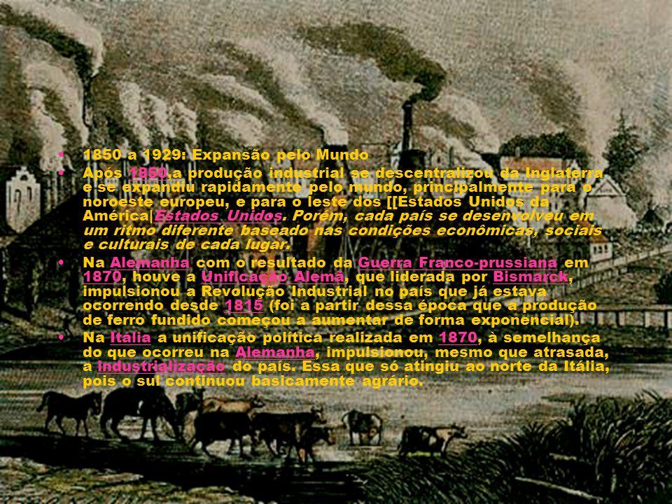 1850 a 1929: Expansão pelo Mundo