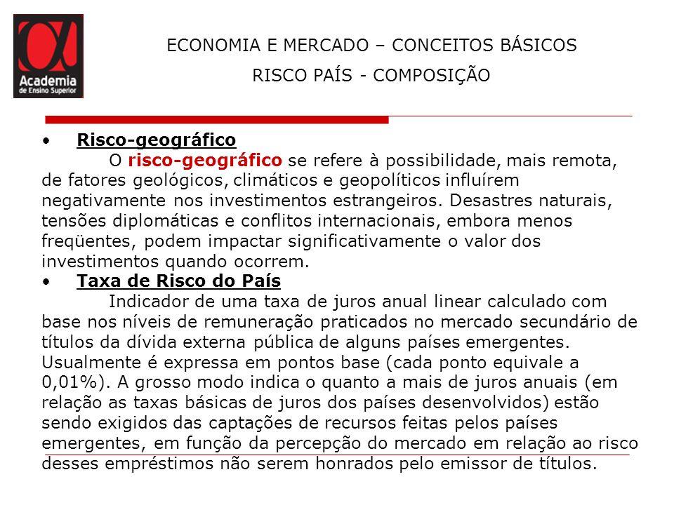 ECONOMIA E MERCADO – CONCEITOS BÁSICOS RISCO PAÍS - COMPOSIÇÃO