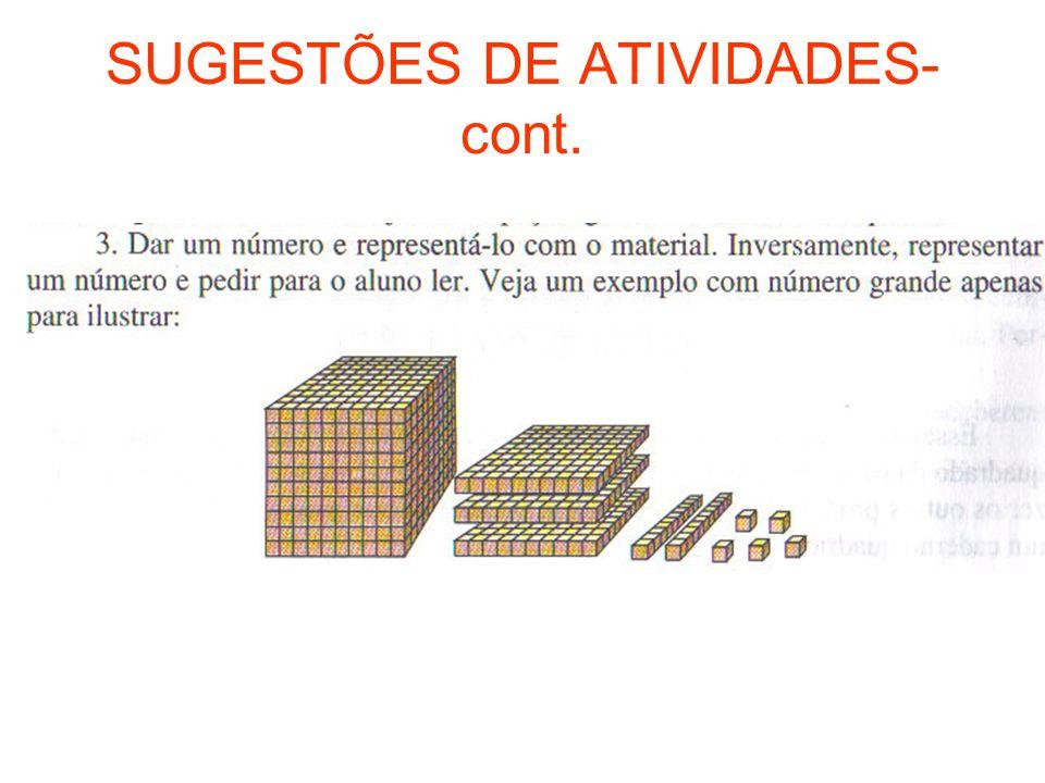 SUGESTÕES DE ATIVIDADES-cont.