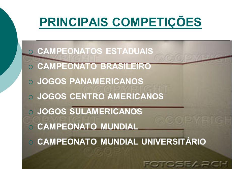 PRINCIPAIS COMPETIÇÕES
