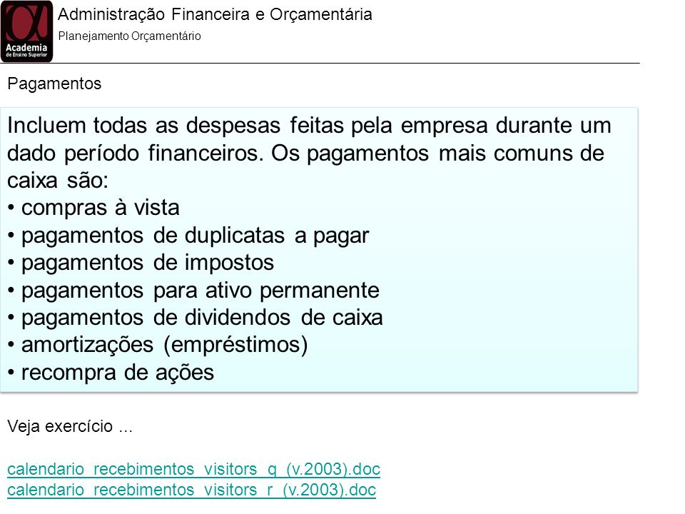 pagamentos de duplicatas a pagar pagamentos de impostos
