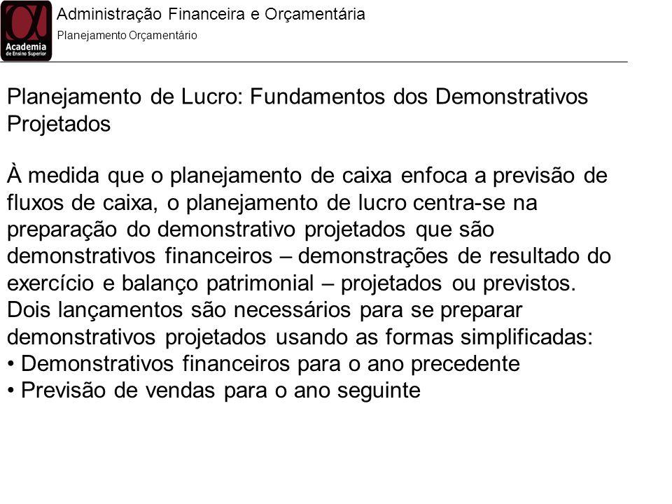 Planejamento de Lucro: Fundamentos dos Demonstrativos Projetados