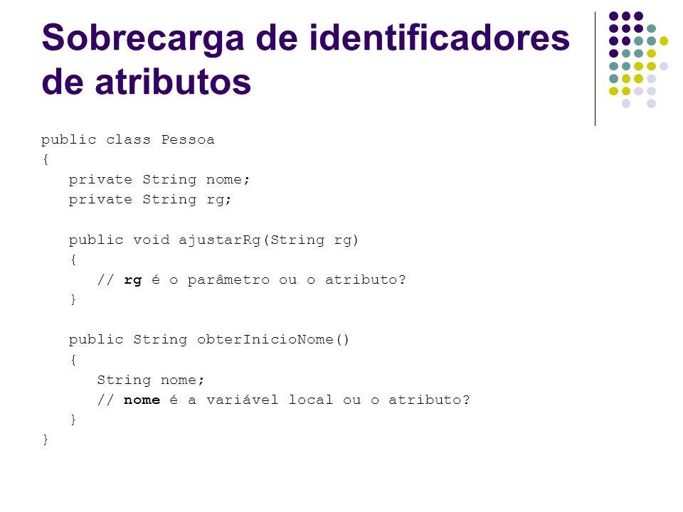 Sobrecarga de identificadores de atributos