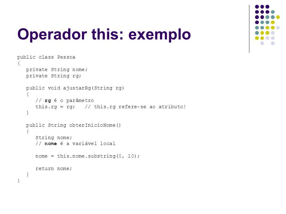 Operador this: exemplo