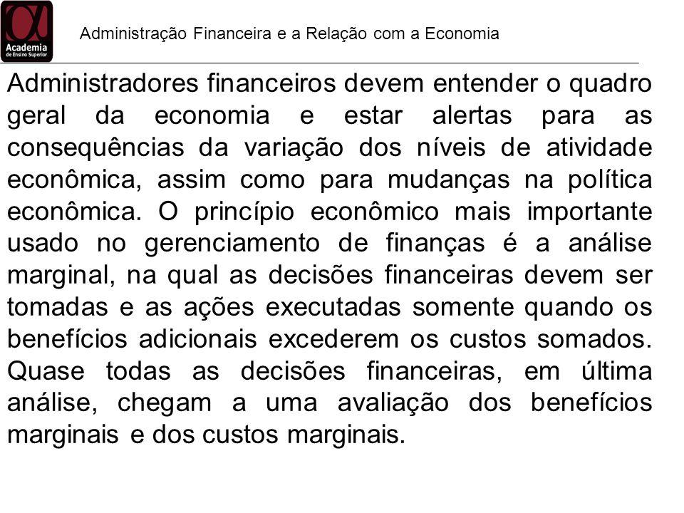 Administração Financeira e a Relação com a Economia