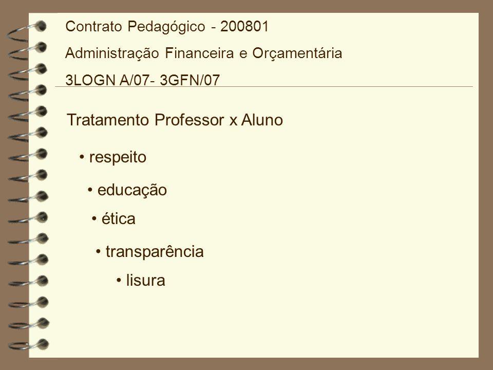 Tratamento Professor x Aluno