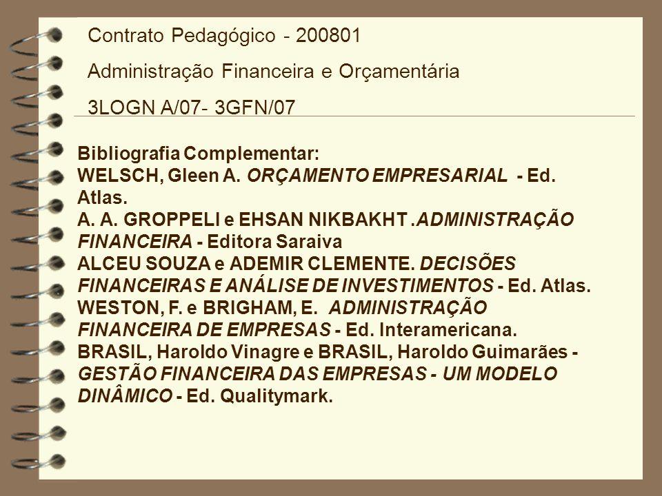 Administração Financeira e Orçamentária 3LOGN A/07- 3GFN/07