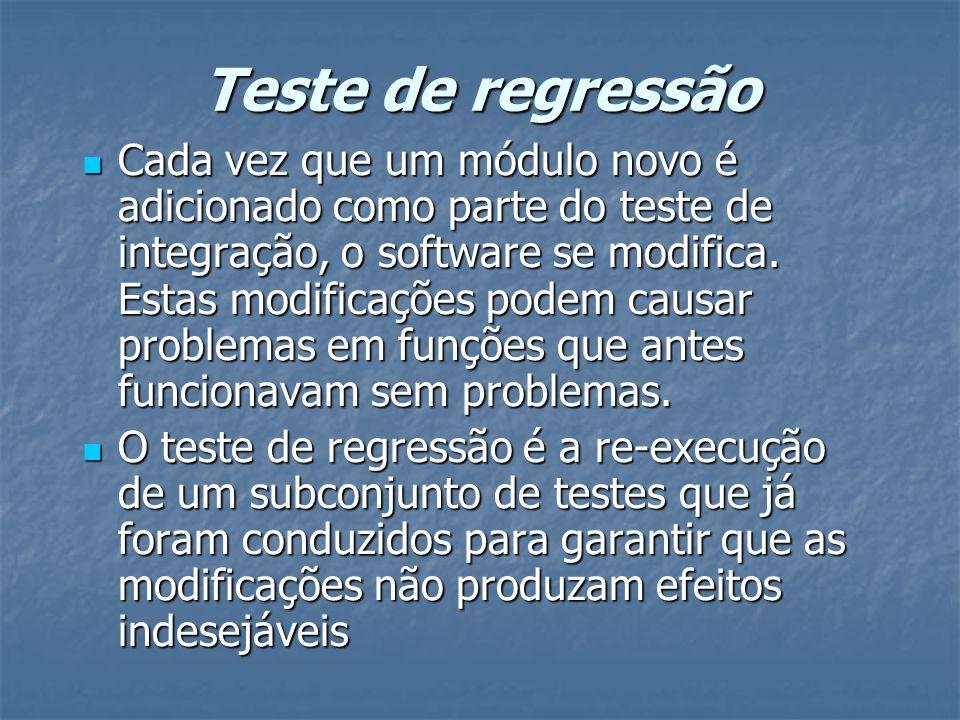 Teste de regressão