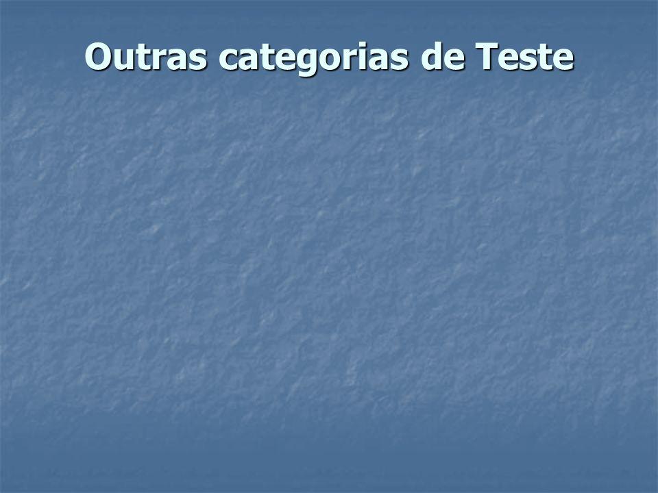 Outras categorias de Teste