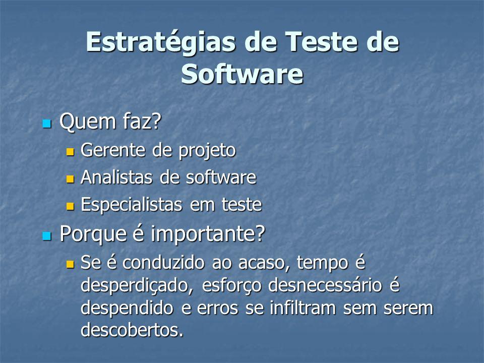 Estratégias de Teste de Software