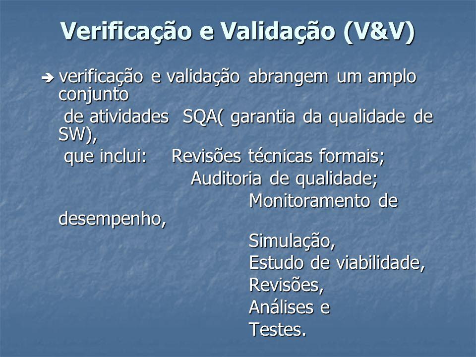 Verificação e Validação (V&V)