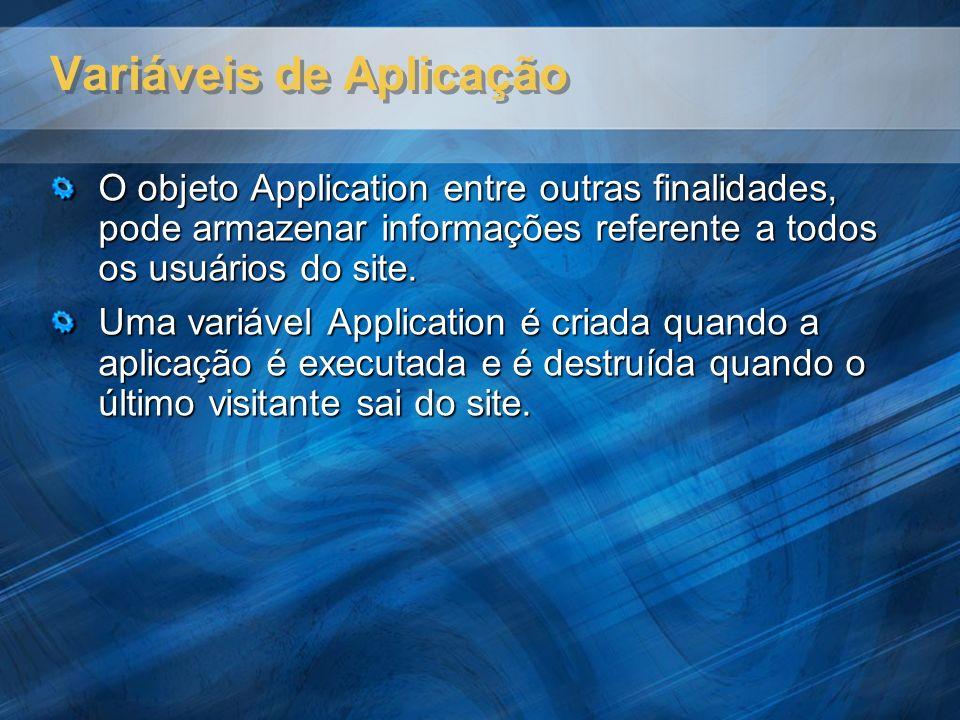Variáveis de Aplicação