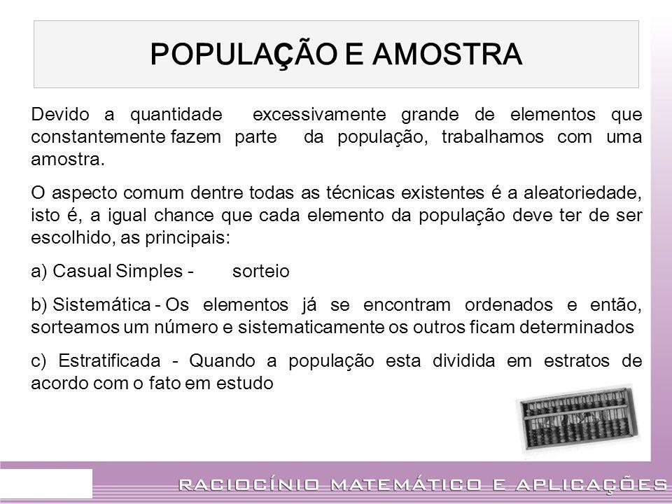POPULAÇÃO E AMOSTRA.