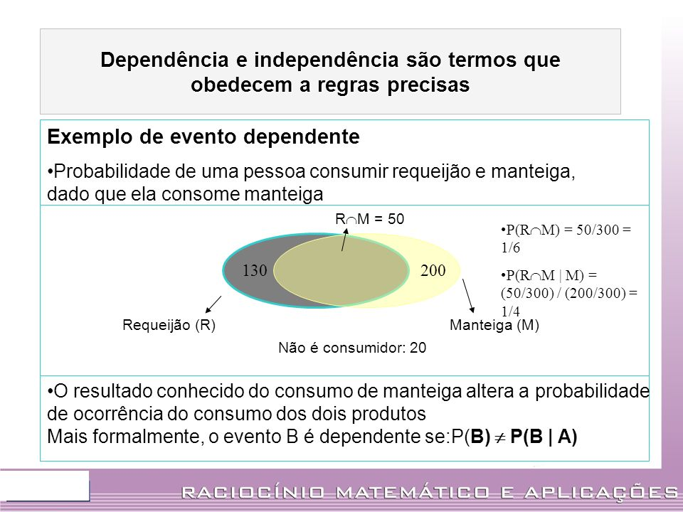 Dependência e independência são termos que obedecem a regras precisas