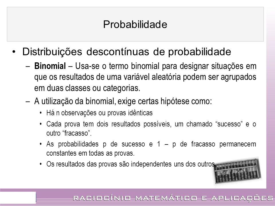 Distribuições descontínuas de probabilidade